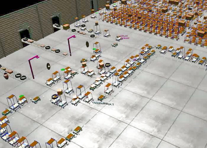 Solystic - Parcels sorting automation - Mobile robotics to sort the parcels and prepare the delivery round - Soly™