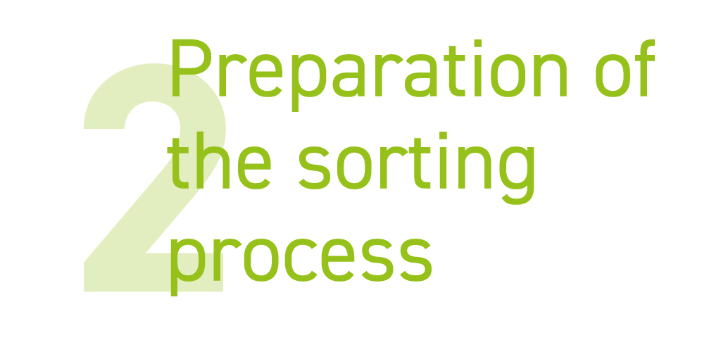 Preparation of the parcel and letter sorting process