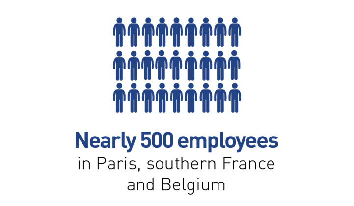 Nearly 500 employees in Paris, southern France and Belgium